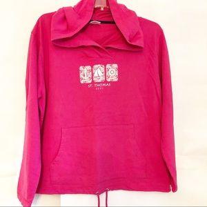 St. Thomas Hooded Sweatshirt Pink Sz 2XL